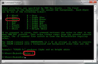 how to change text color in command prompt