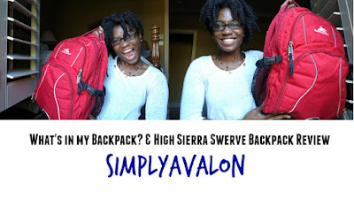 What's in my Backpack High Sierra Backpack Review