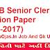 GSSSB Senior Clerk Question Paper (13-08-2017)