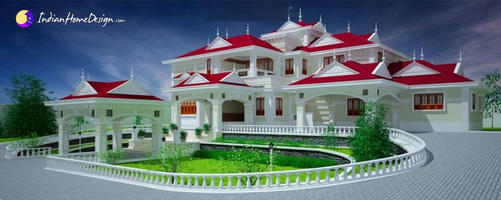 Luxury Designer type 6500 sq ft Villa Design Kerala Home Designs