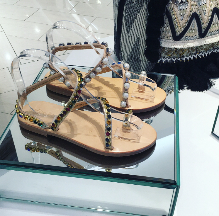 Elina Linardaki Swarovski Crystals Sandals