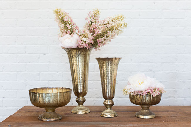 Accent Decor Top 10 Bestsellers - Vintage Inspired Lita Vase and Compote for Weddings