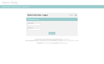Free osCommerce 2.3.3 Admin Template Bright Bluey Style