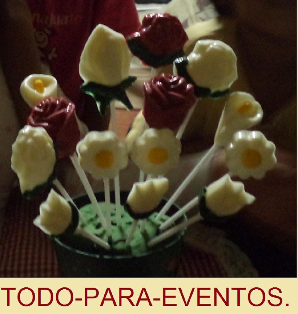 d83f4b337af FLORES DE CHOCOLATE. Otros diseños de paletas florales.