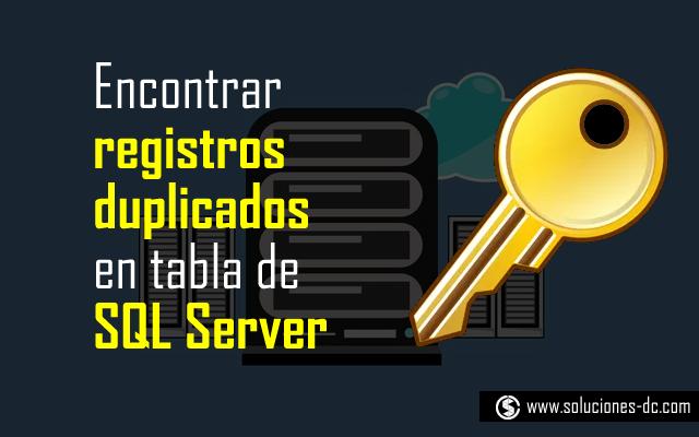 registros duplicados SQL Server