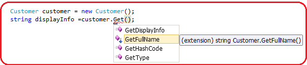 Extension methods display in Visual Studio IDE