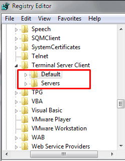 Process to Reset Remote Desktop Connection Data in Windows 10