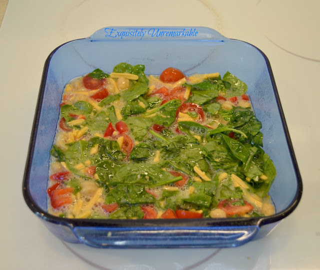 Easy Spinach, Egg, Tomato, Bean Recipe