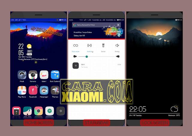 Tema MIUI Mod Lazy Landscape Version Update v1.2 Untuk Xiaomi