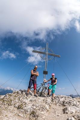 Mountainbike Tour Reither Spitze Gipfelfoto