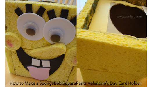 How to make a SpongeBob Squarepants Valentine's Day card box