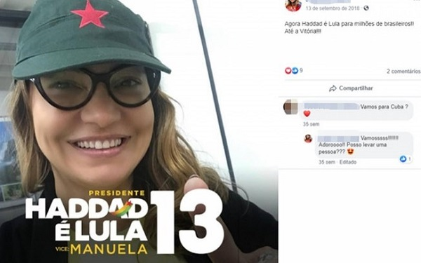 Conheça quem realmente é a misteriosa namorada de Lula (Imagem: Reprodução/Facebook)