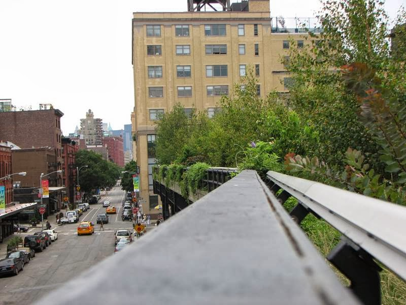 Street view from High Line Park, New York