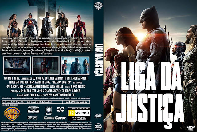 Capa DVD Liga Da Justiça (2017) [Exclusiva]
