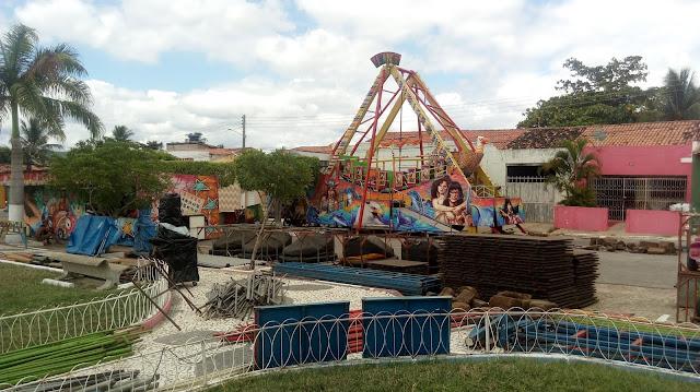 Parque de diversão chega em Olho D'Água do Casado para a festa do Padroeiro São José