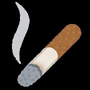煙草の吸殻のイラスト