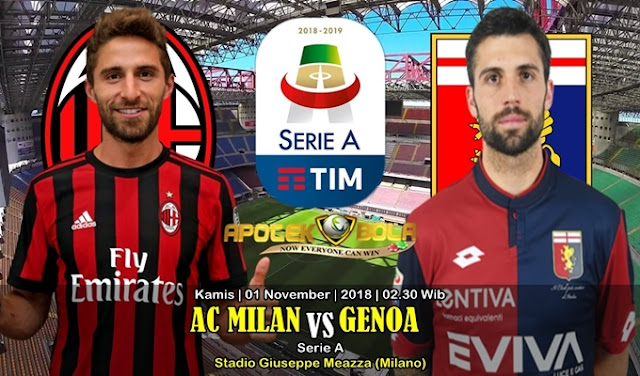 Prediksi AC Milan vs Genoa 1 November 2018