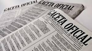 Consulte SUMARIO Gaceta Oficial N° 41.564 del 15 de enero de 2019