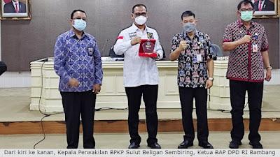 Pemprov Sulut-BAP DPD Gelar Rapat Konsulutasi Tindak Lanjut IHPS II BPK Tahun 2020