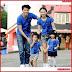 AKC091K101 Kaos Couple 2 Anak 091K101 Keluarga Anak BMGShop