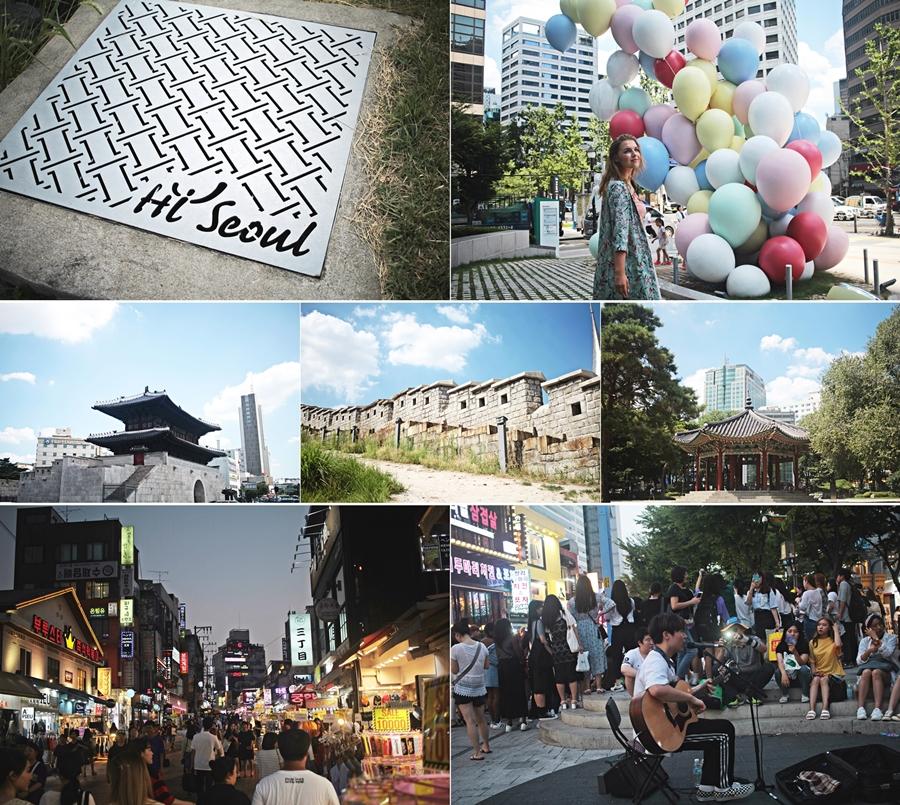 Hongik University street seul city wall shopping