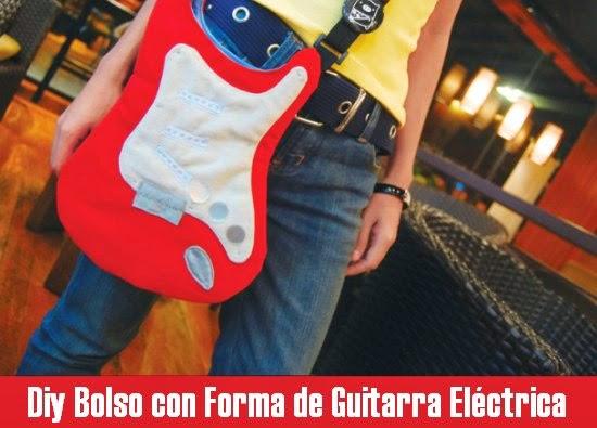 como hacer un bolso con forma de guitarra