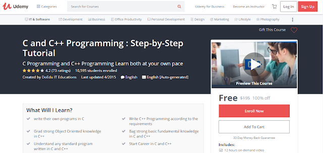 C and C++ Programming : Step-by-Step Tutorial