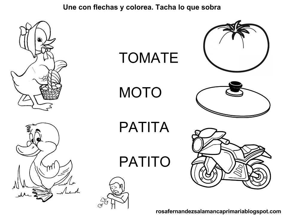 Maestra De Primaria Fichas De Lectoescritura Fonema T