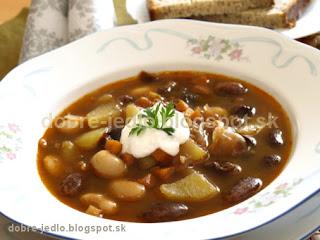 Terchovská fazuľová polievka - recepty