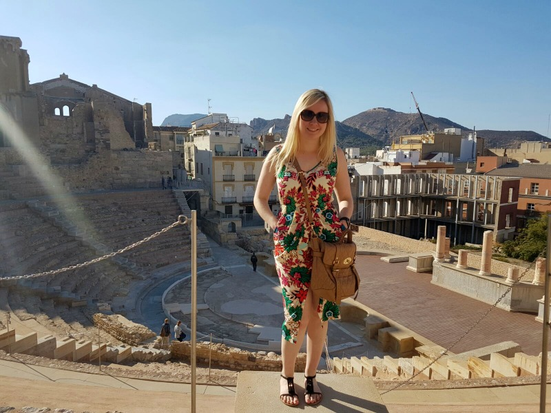 Standing at the top of the Roman Theatre Cartagena