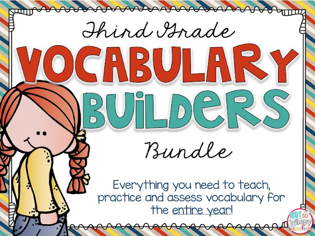 Third grade vocabulary builders bundle: everything you need to teach, practice and assess vocabulary for the entire third grade year.
