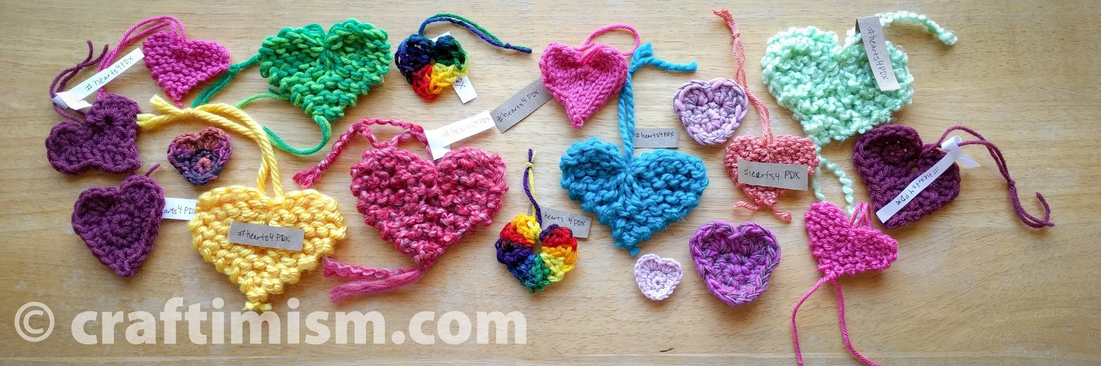 Craftimism: Simple Knit and Crochet Heart patterns