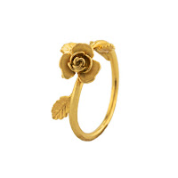 Enchanted Rose Bloom Ring Alex Monroe X Disney
