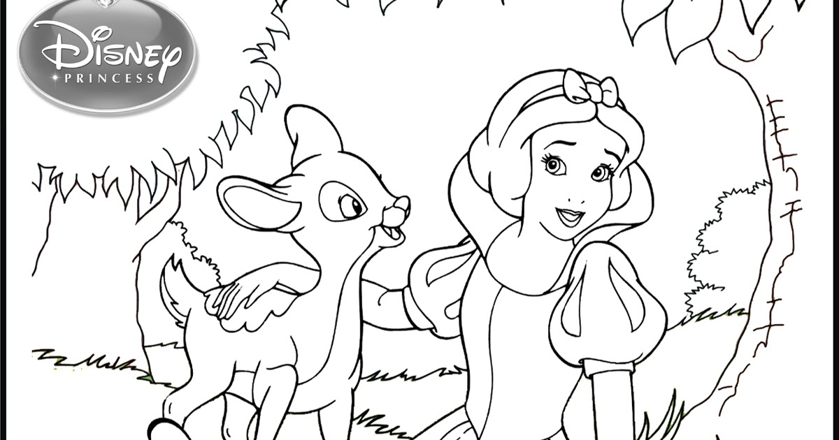snow white and her animal friends coloring pages team colors. Black Bedroom Furniture Sets. Home Design Ideas