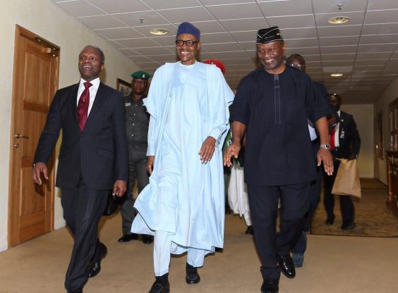 Photos: Pres. Buhari, VP Yemi Osinbajo, others at the cabinet Economic retreat
