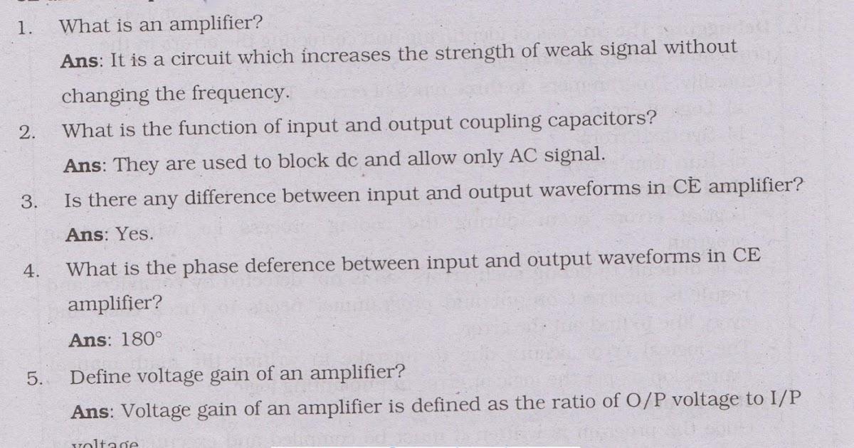 2 PUC Electronics Important Viva Voce Questions