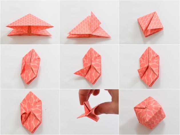 Origami lichtjes vouwen  Wimke