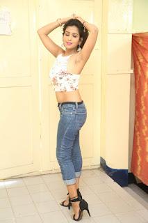 Deekshita Parvathi in a short crop top and Denim Jeans Spicy Pics Beautiful Actress Deekshita Parvathi January 2017 CelebxNext (223).JPG