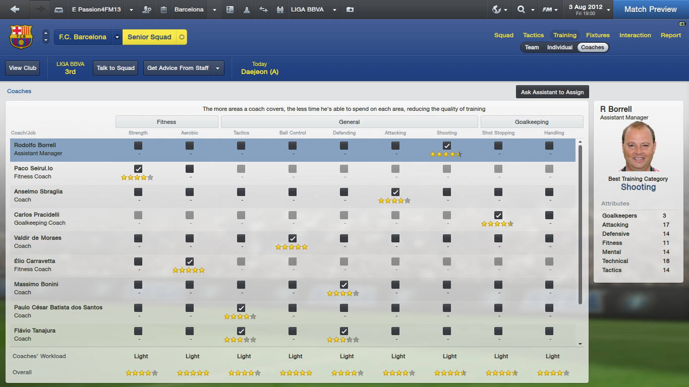 Football Manager 2013 Training