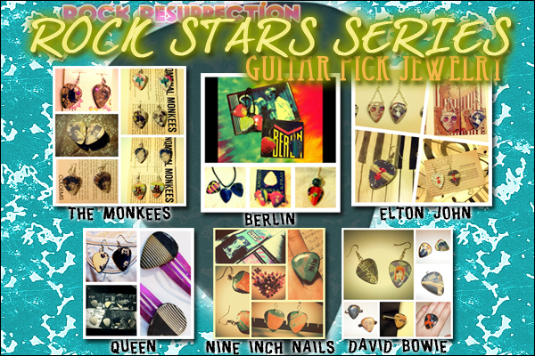 Rock Star Series - Guitar Pick Jewelry