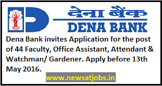dena+bank+recruitment+2016
