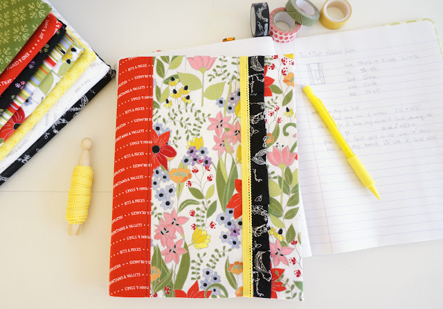 ruffle accent cover for composition notebook