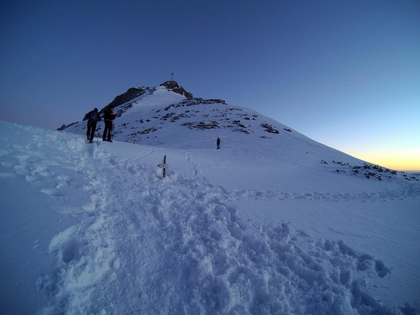 zimowe wejście na Giewont