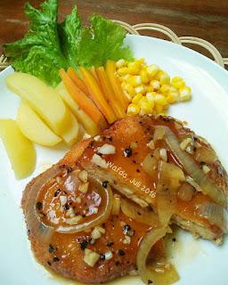 Ide Resep Masak Tempe Mozarella Steak with Blackpepper Sauce