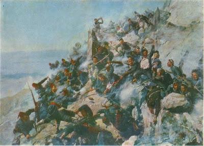 А.Н. Попов (1858-1917) Защита Орлиного Гнезда орловцами и брянцами 12 августа 1877 года