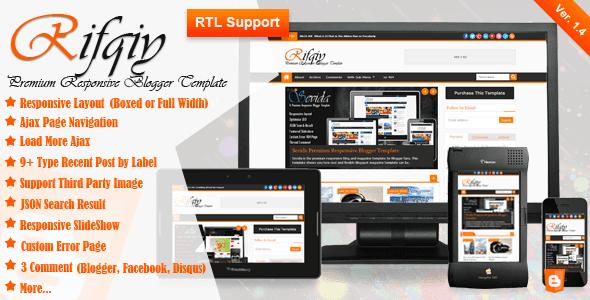 Rifqiy Responsive Blogger Template