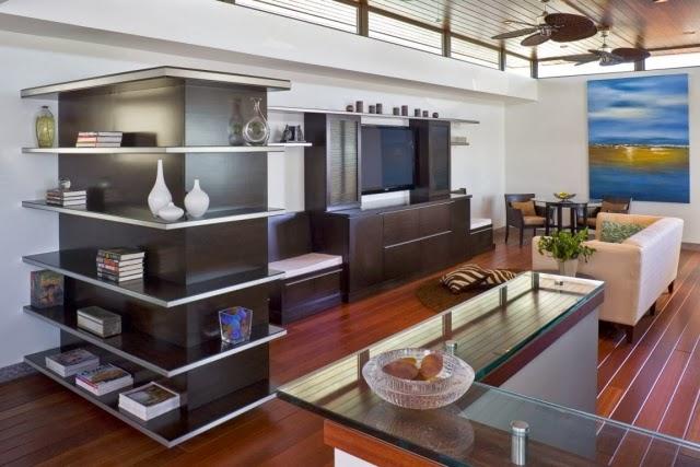 moderna sala con tv