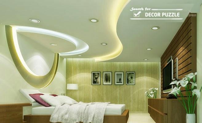 Pop Design For Bedroom Roof False Ceiling Led Lights