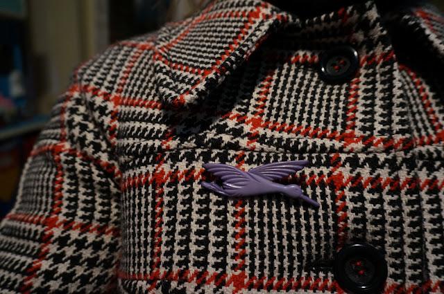 broche oiseau années 70 70s bird brooch