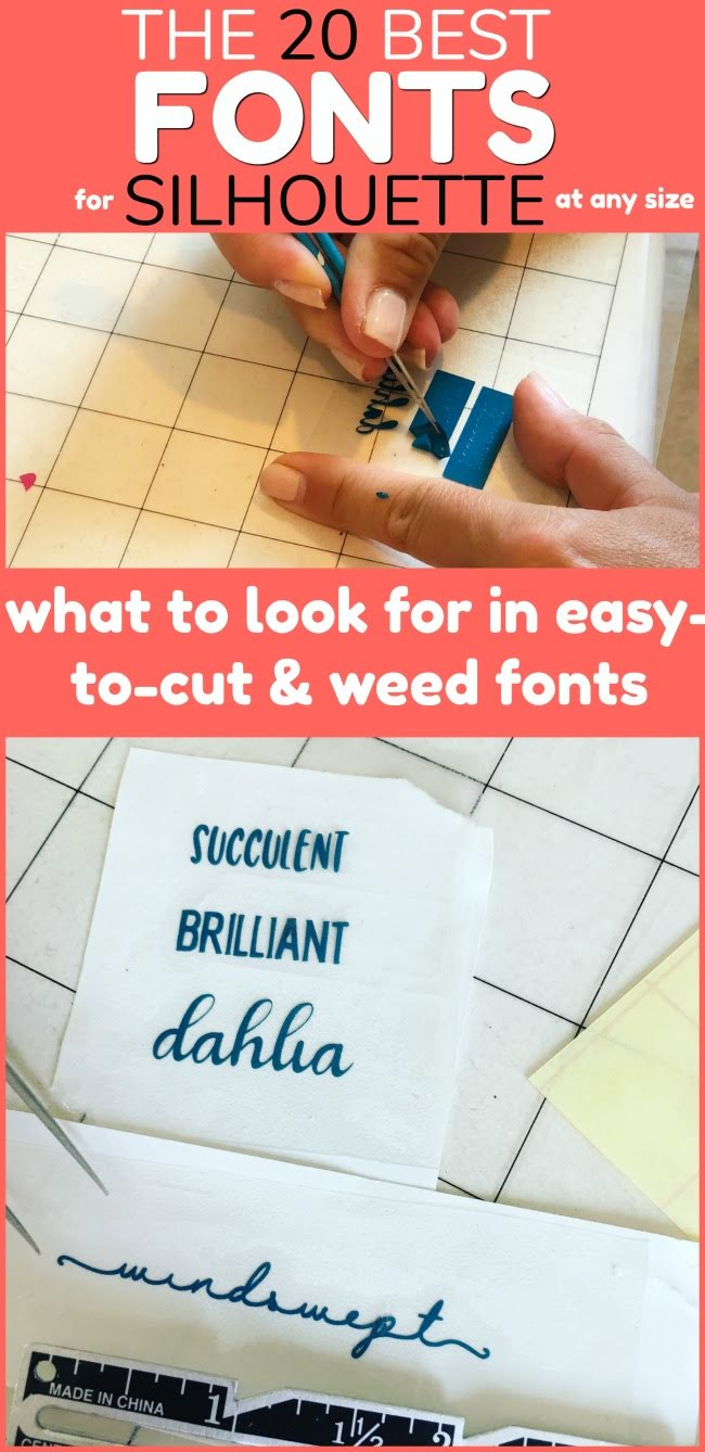 20 Best Fonts To Cut With Silhouette And How To Pick Easy To Cut